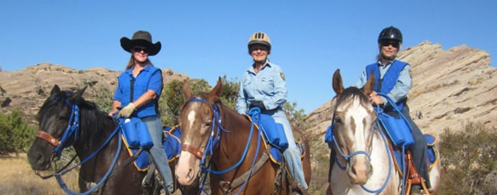 LA County volunteers on horseback