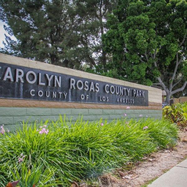 Carolyn Rosas Park sign
