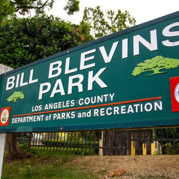 Bill Blevins Park sign