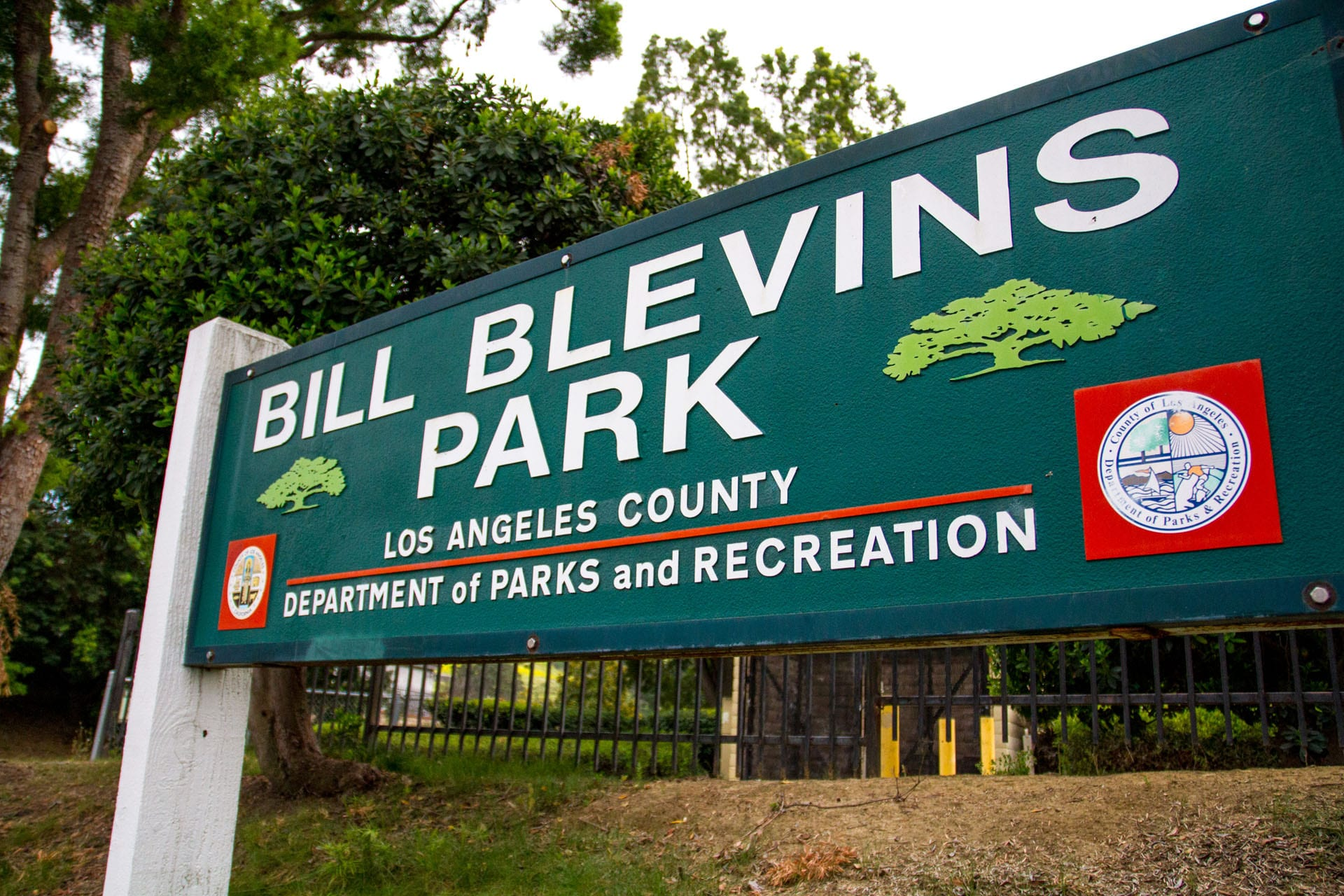 Bill Blevins Park sign