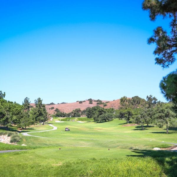 A picture of hole 9 at Mountain Meadows Golf Course