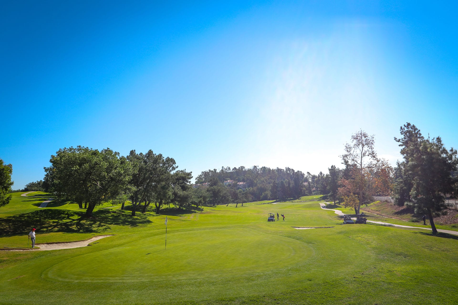 A beautiful sunny shot at Mountain Meadows Golf Course.