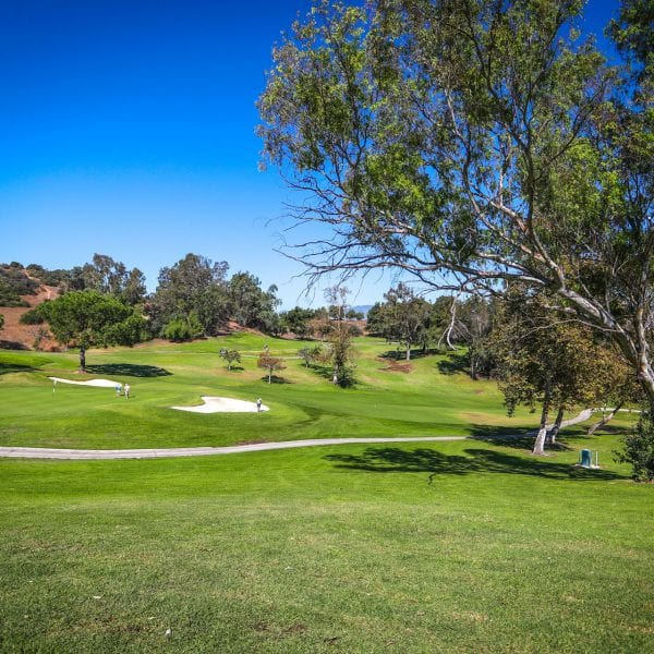 A picture of hole 5 at mountain meadows golf course