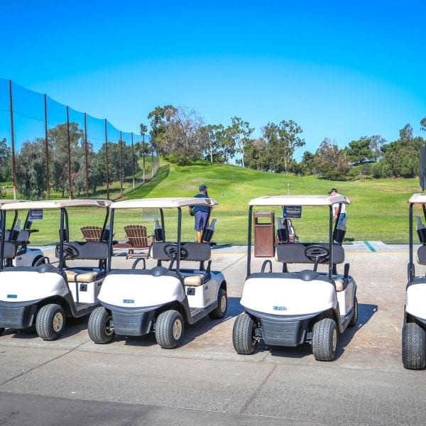 a picture of golf carts at Mountain Meadows Golf Course