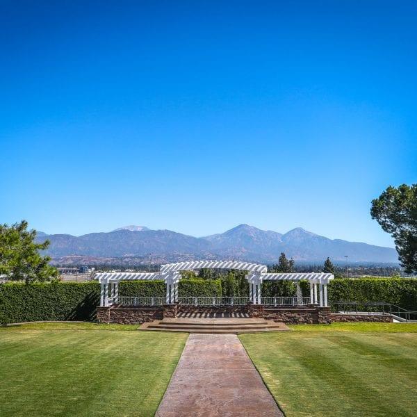 Wedding area at Mountain Meadows Golf Course