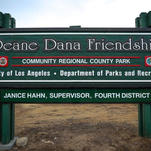 Deane Dana Friendship Community Regional County Park sign