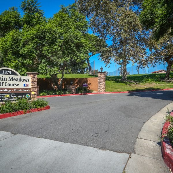 A picture of mountain meadows entry way