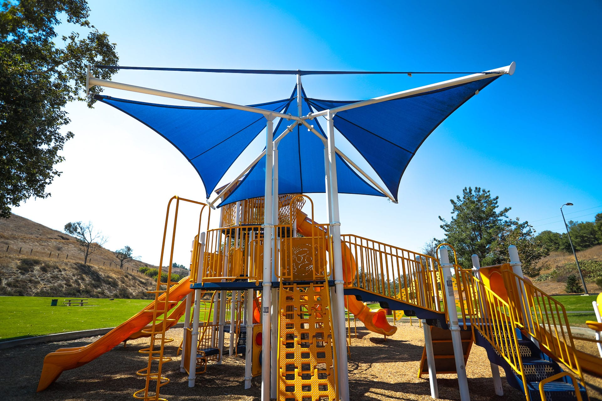Canopy over a playground