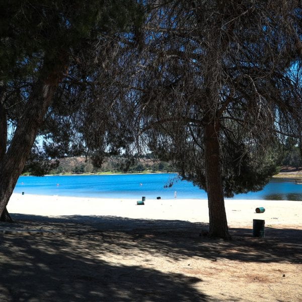 A picture of the Frank G. Bonelli Regional Park beach
