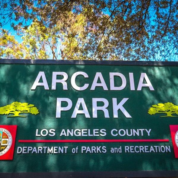 Arcadia Park Sign