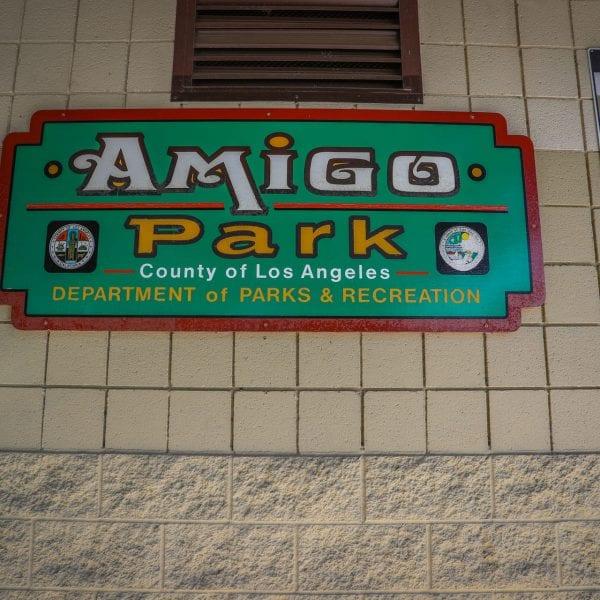 Amigo Park sign