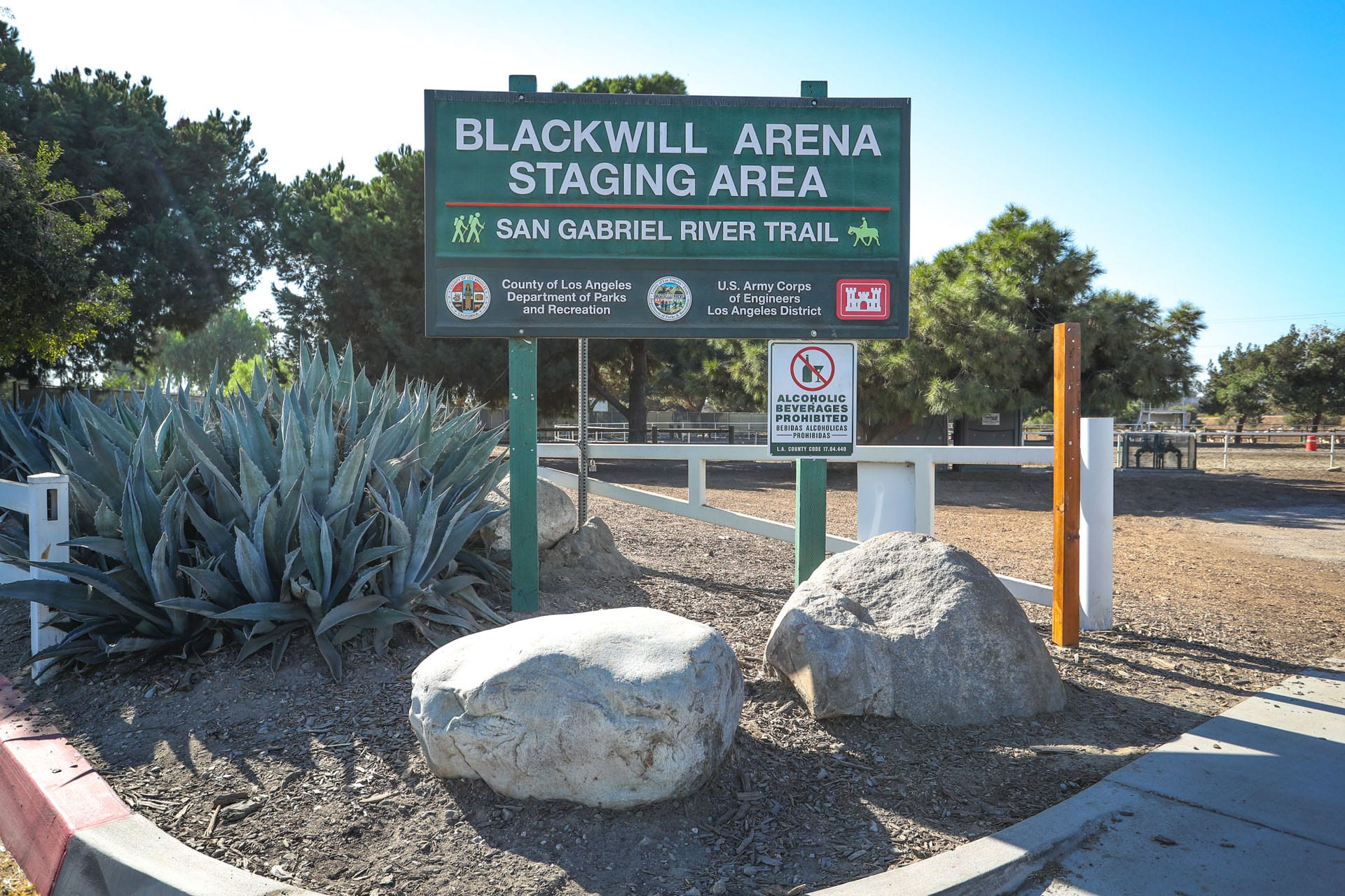 Blackwill Equestrian Staging Area sign