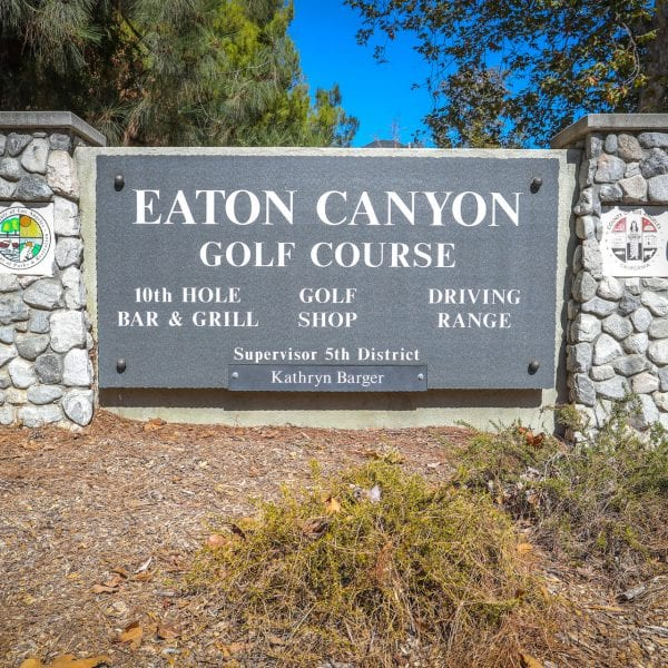 Eaton Canyon Golf Course plaque