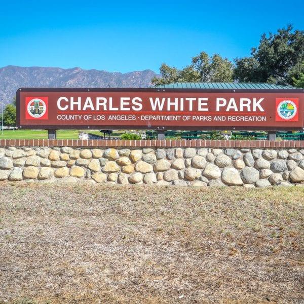 Charles White Park sign