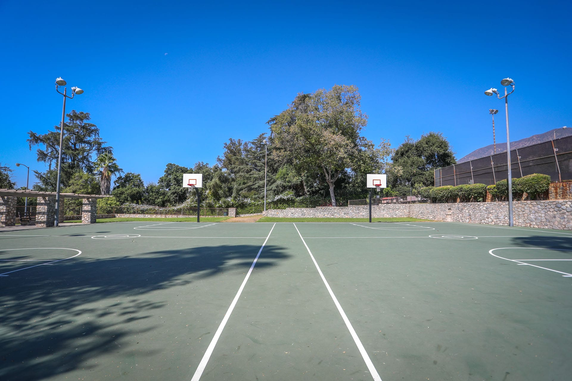 Outdoor basketball courts