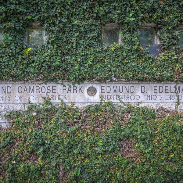 Highland Camrose Park sign