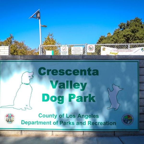 Crescenta Valley Park Dog sign