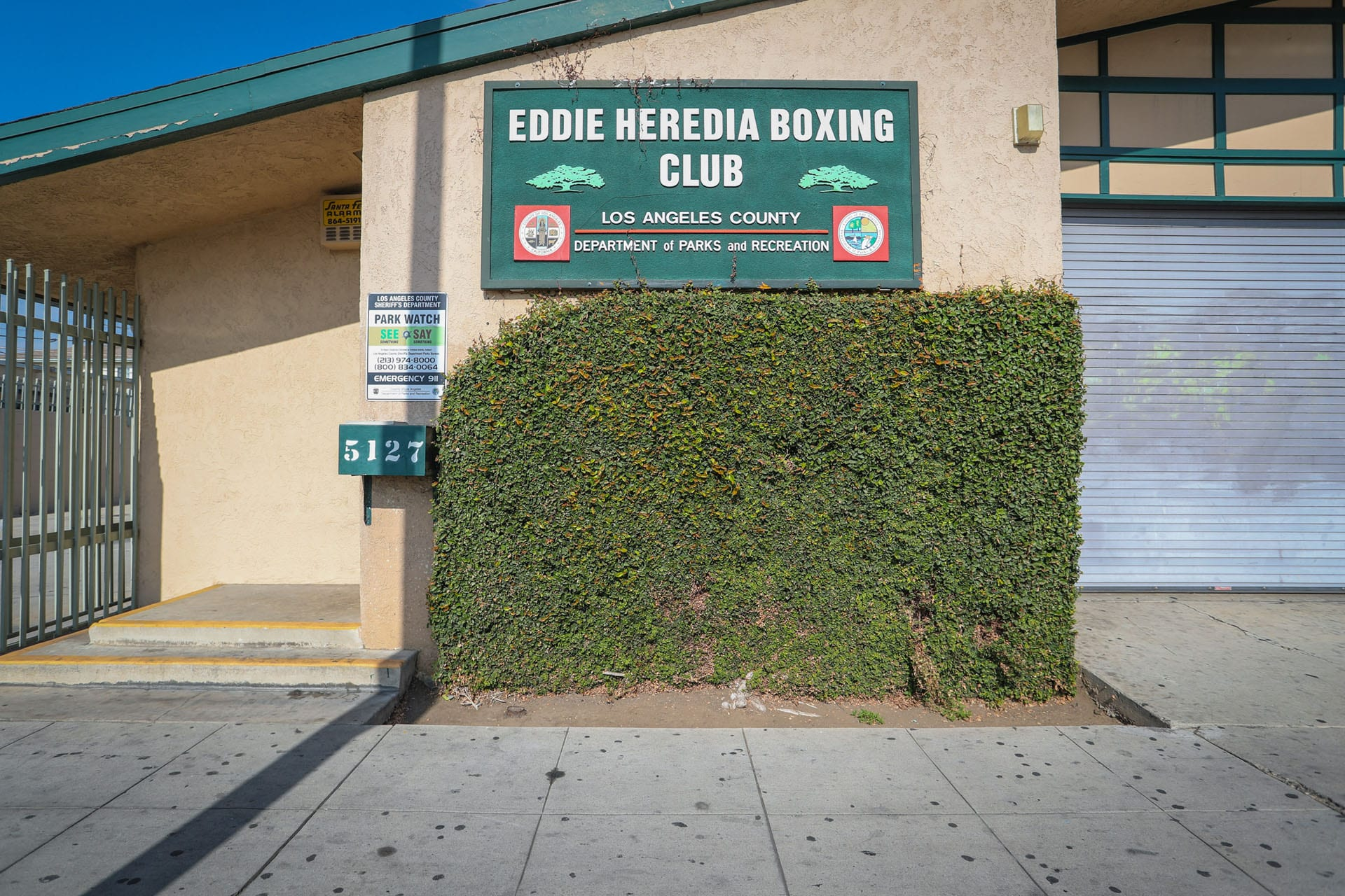 Eddie Heredia Boxing Club sign