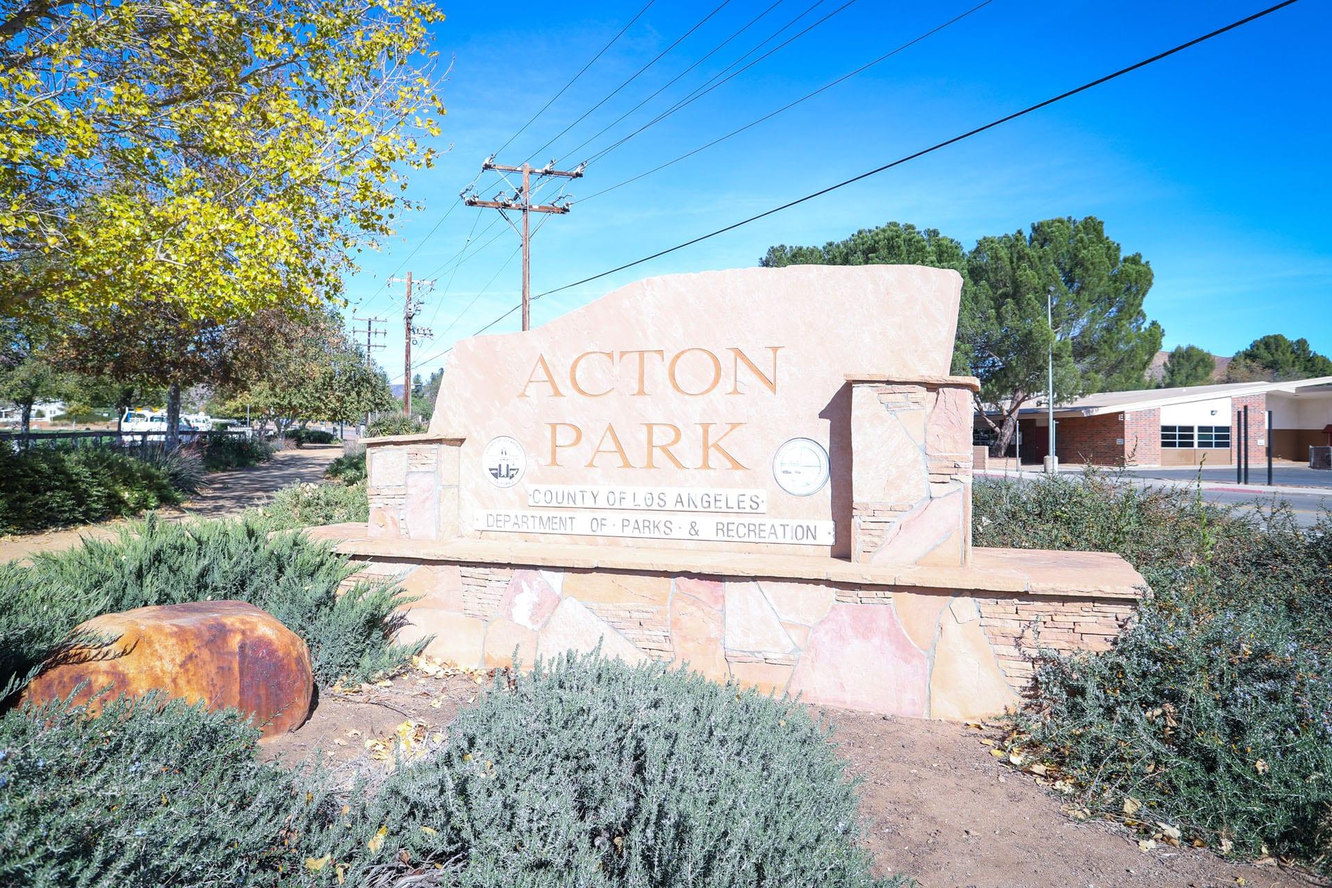 Acton Park sign