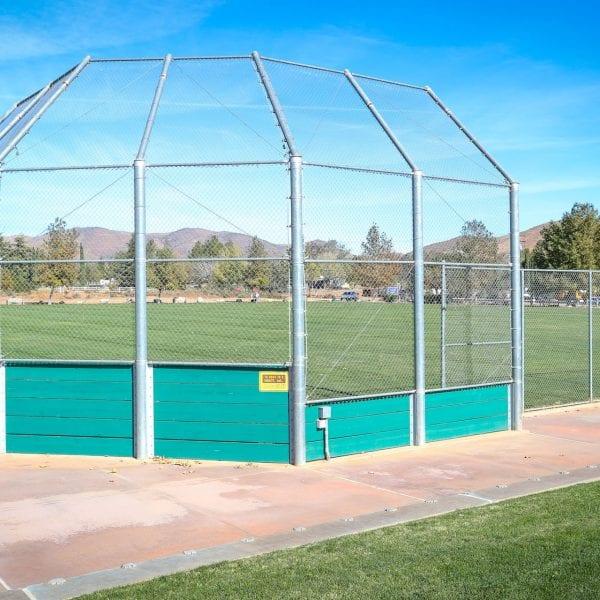 Baseball field net