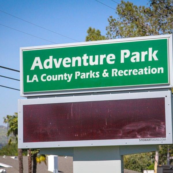 Adventure Park sign