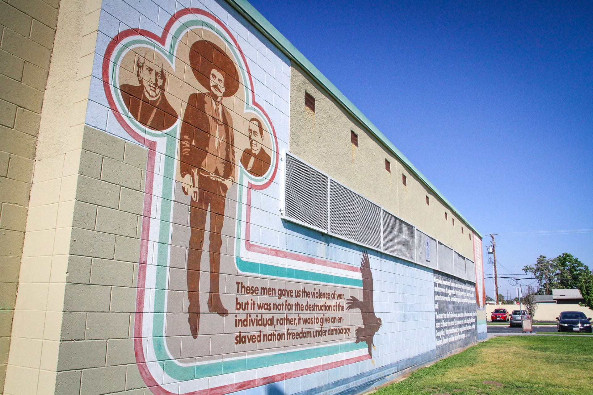 Mural on the facility