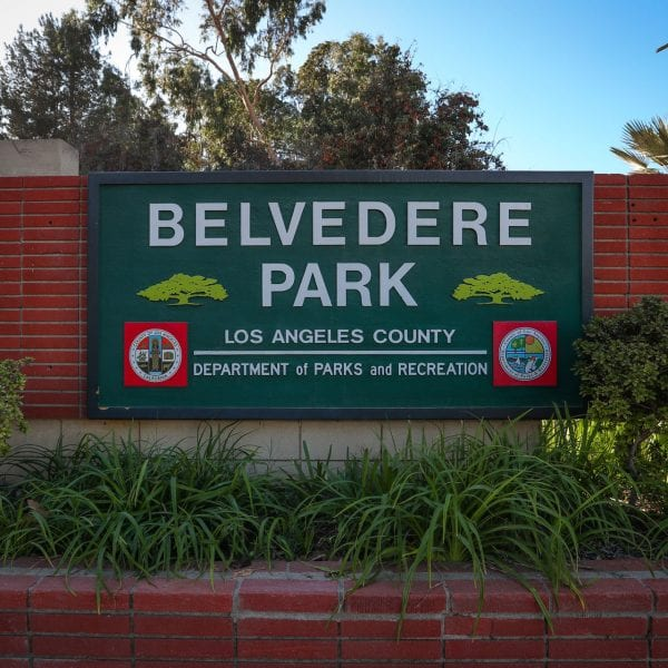 Belvedere Park sign