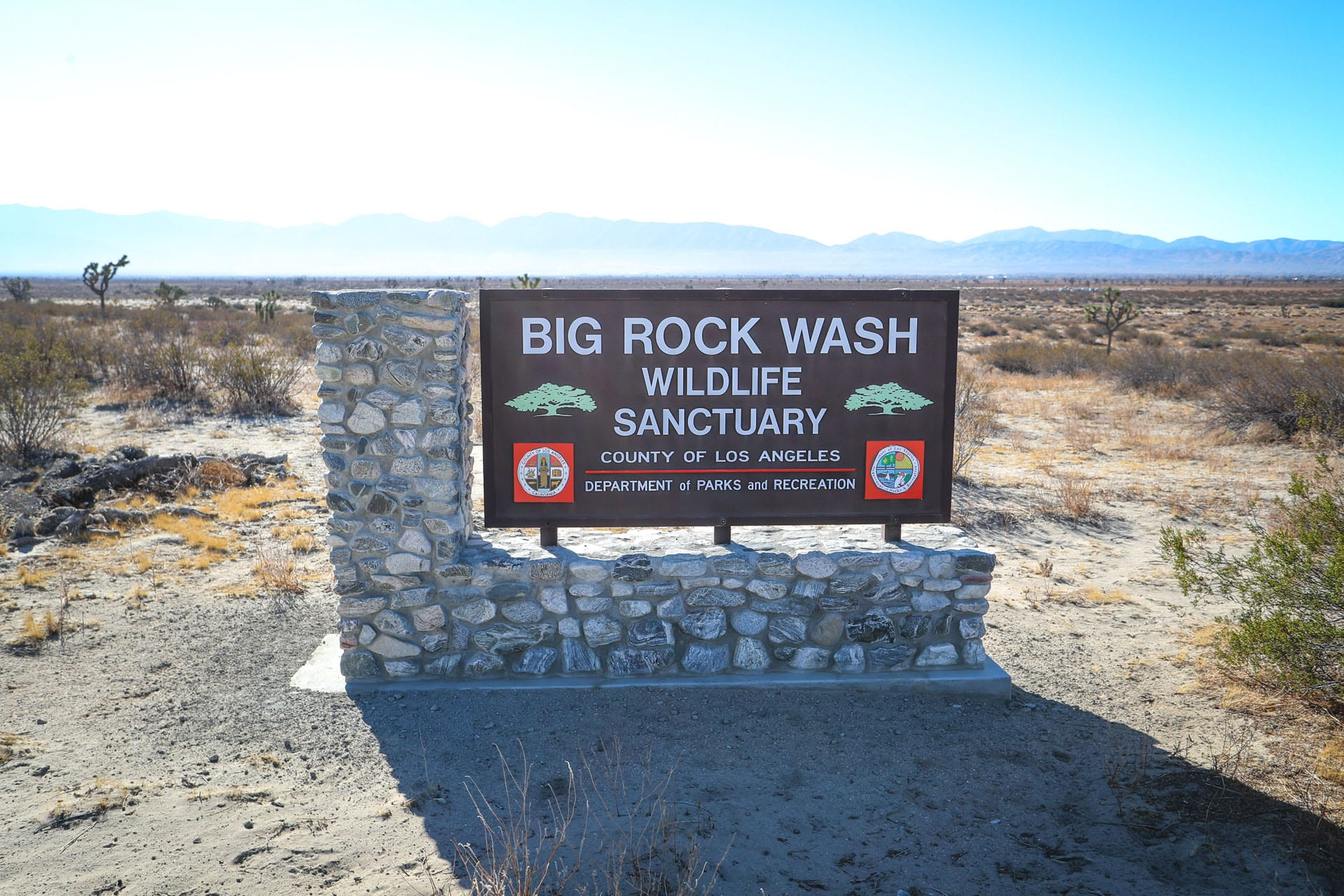 Big Rock Wash Wildlife Sanctuary sign