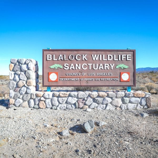 Blalock Wildlife Sanctuary sign