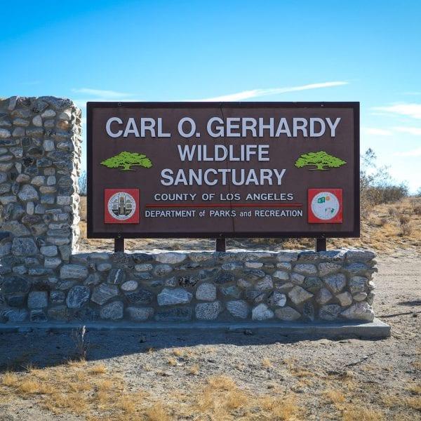 Carl O. Gerhandy Wildlife Sanctuary sign