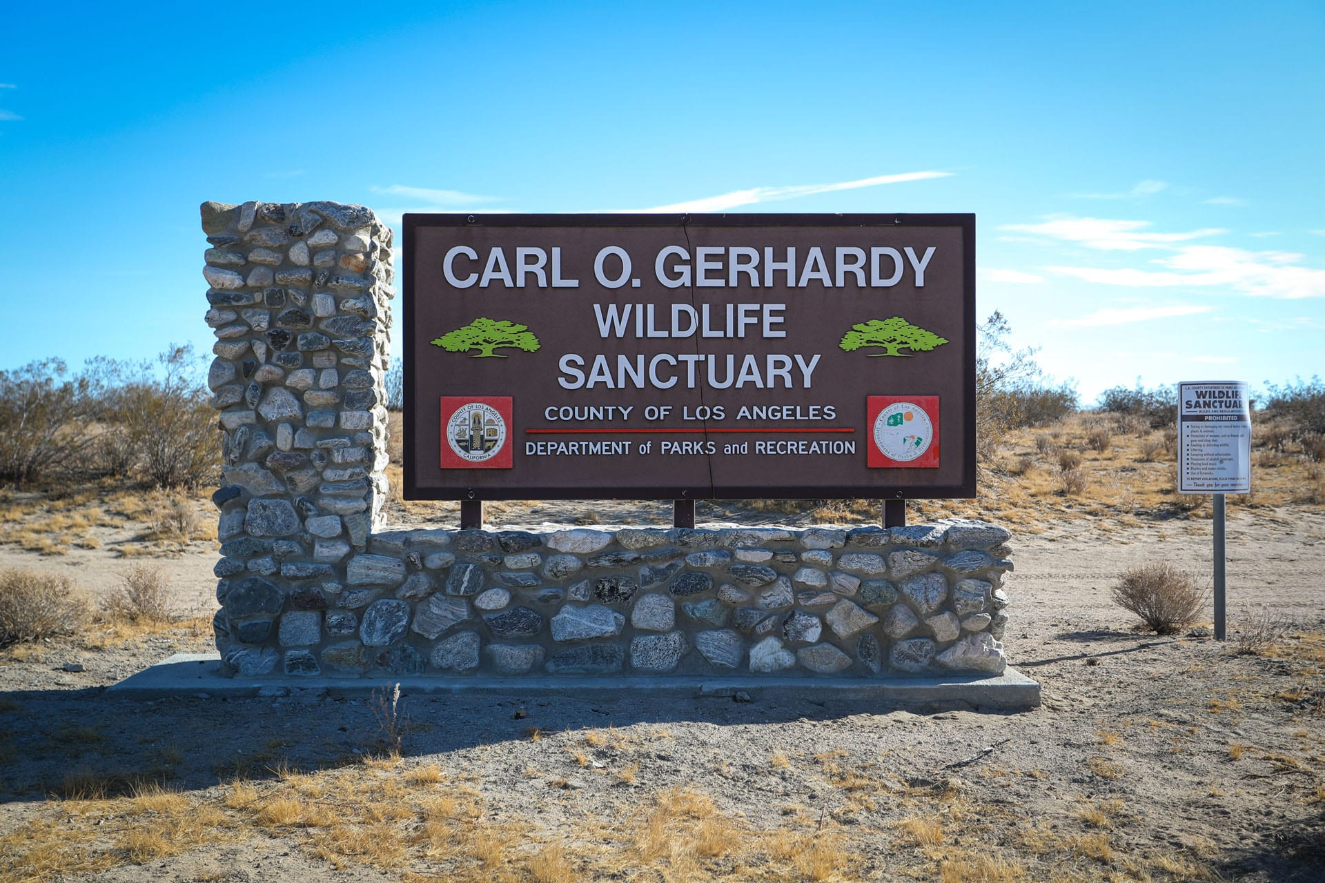 Carl O. Gerhandy Wildlife Sanctuary sign