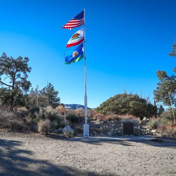 Flags on a flagpole