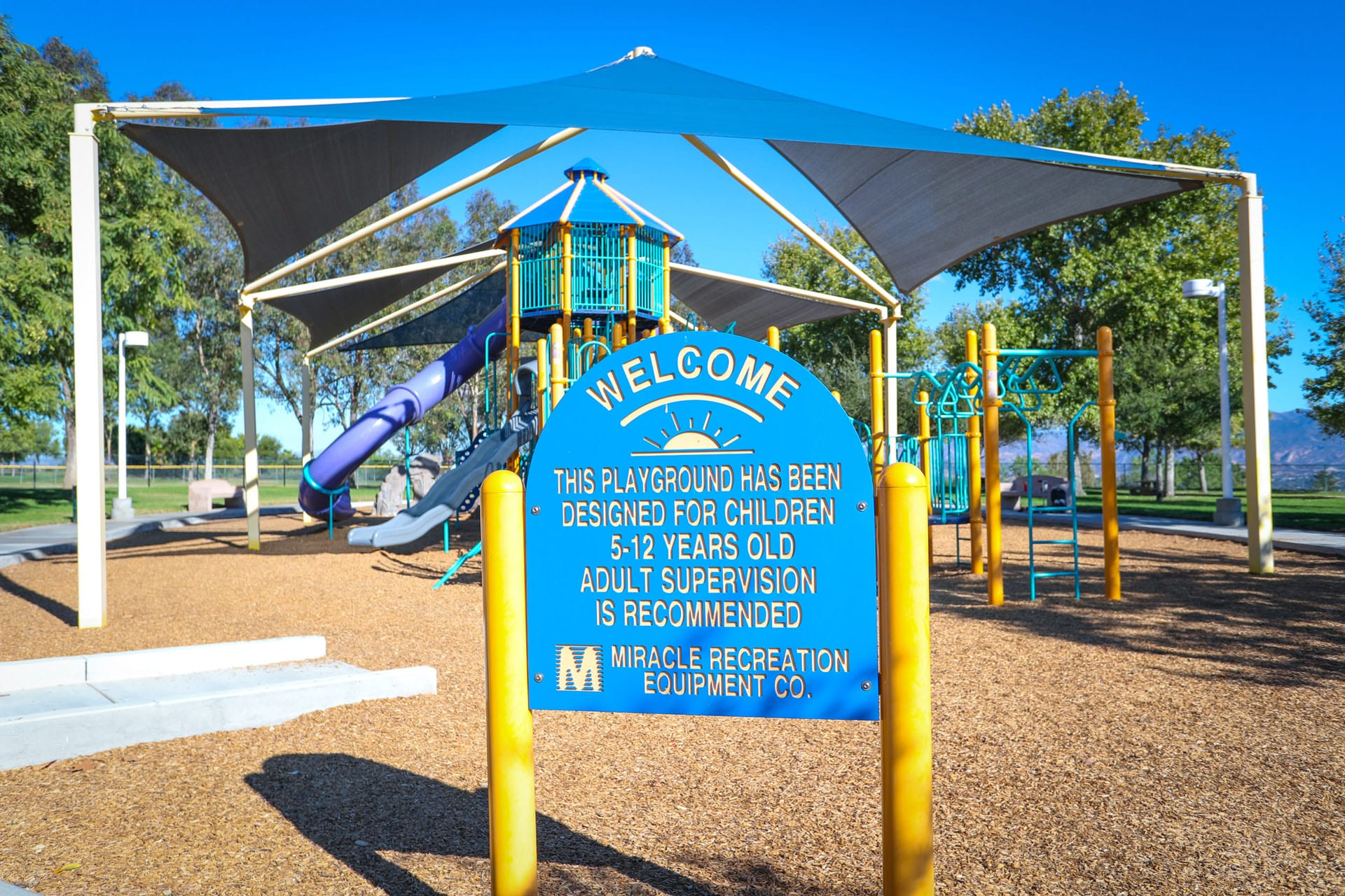 Welcome sign at the playground
