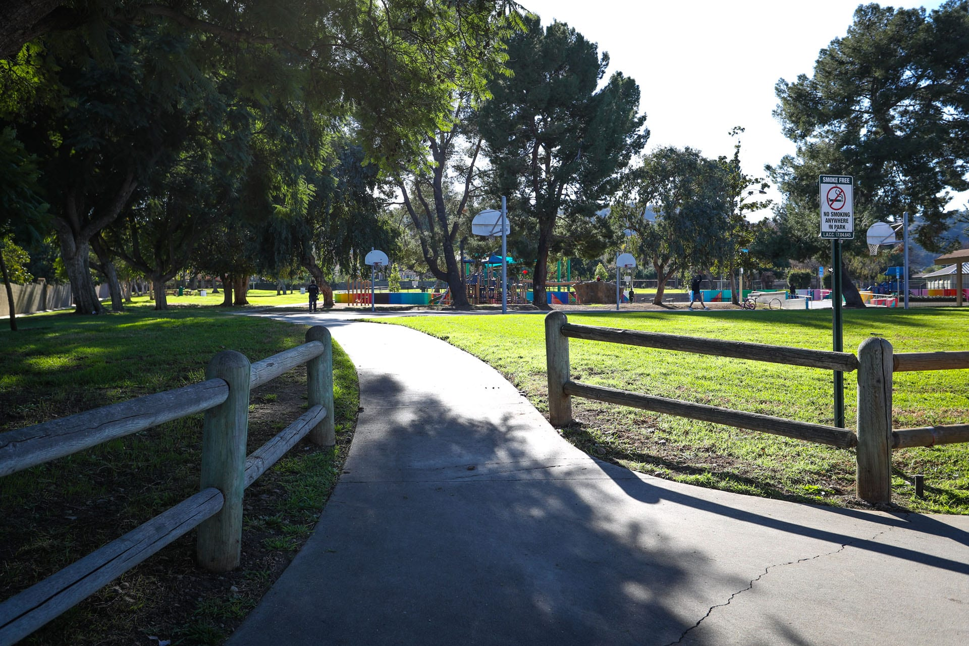 Sidewalk the the park