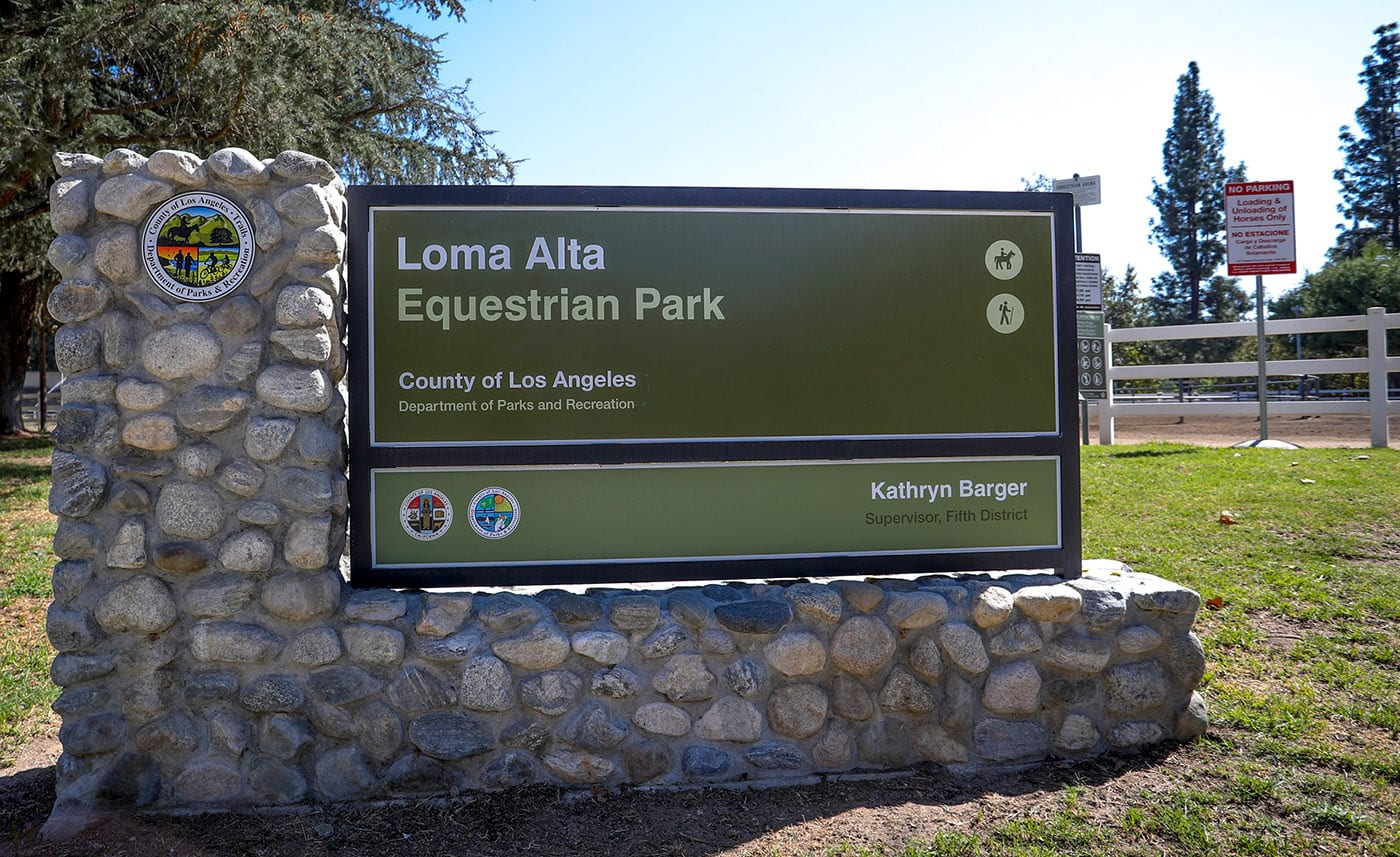 Loma Alta Equestrian Center Sign