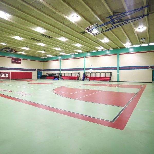 Indoor multi-sport court