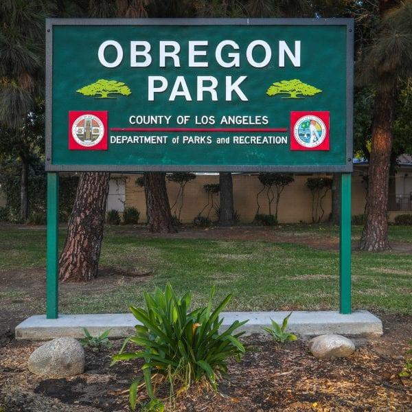 Obregon Park sign