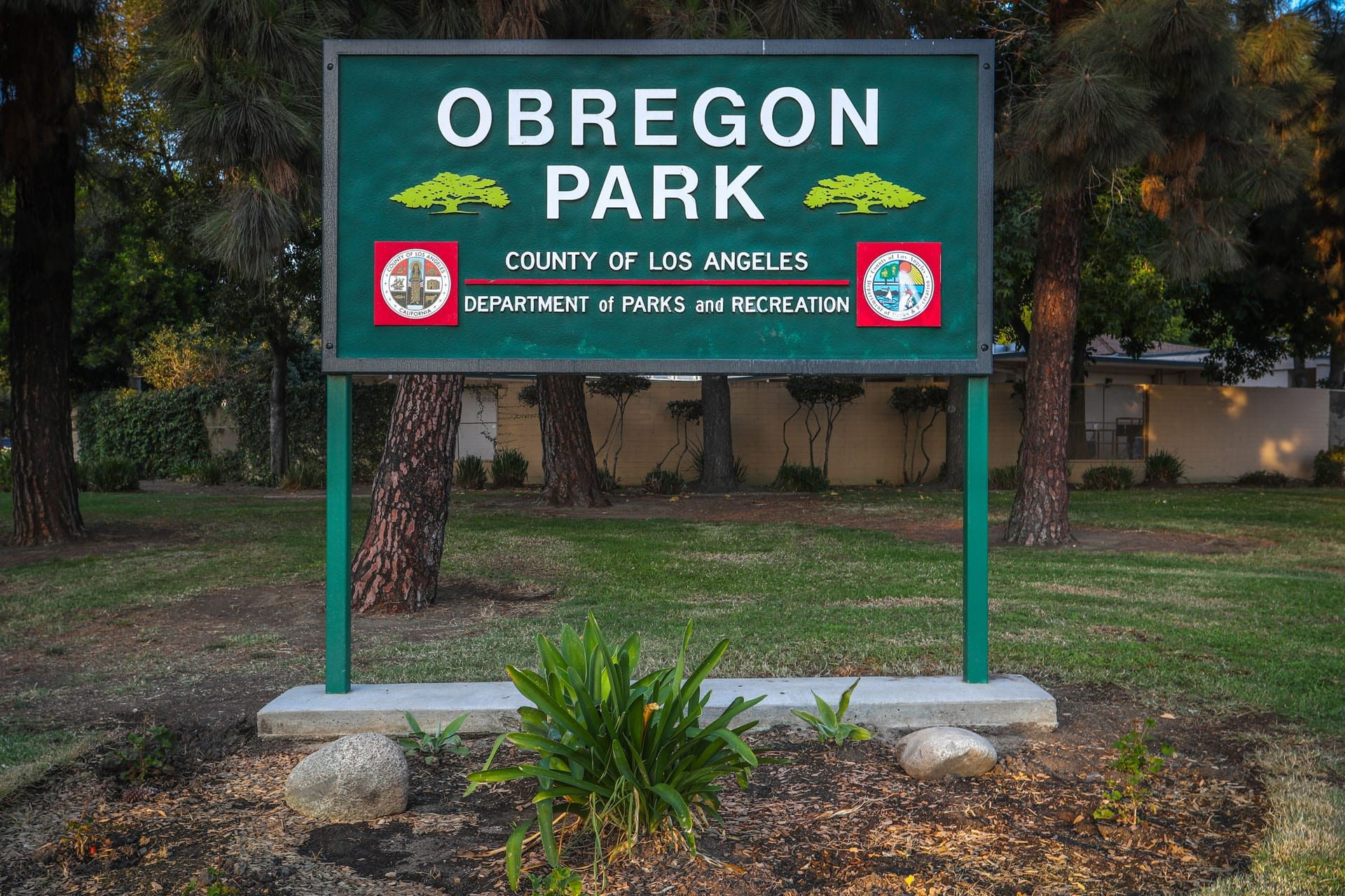 Obregon Park sign