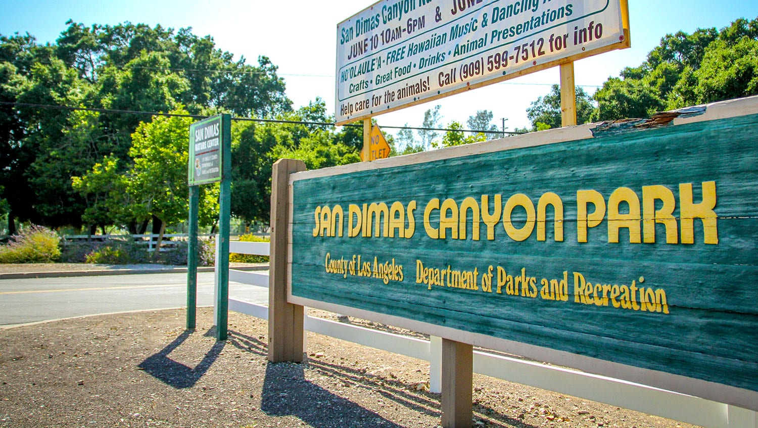 San Dimas Canyon Park sign