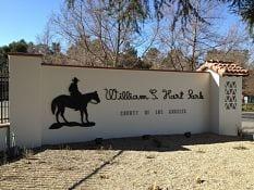 William S Hart Park sign