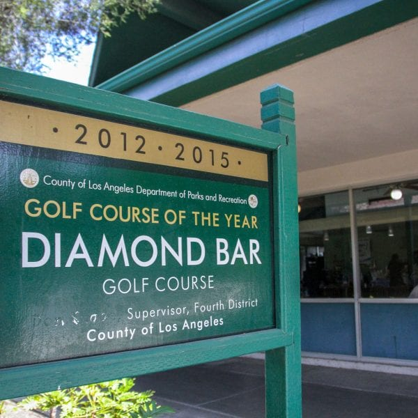 Diamond Bar Golf Course sign