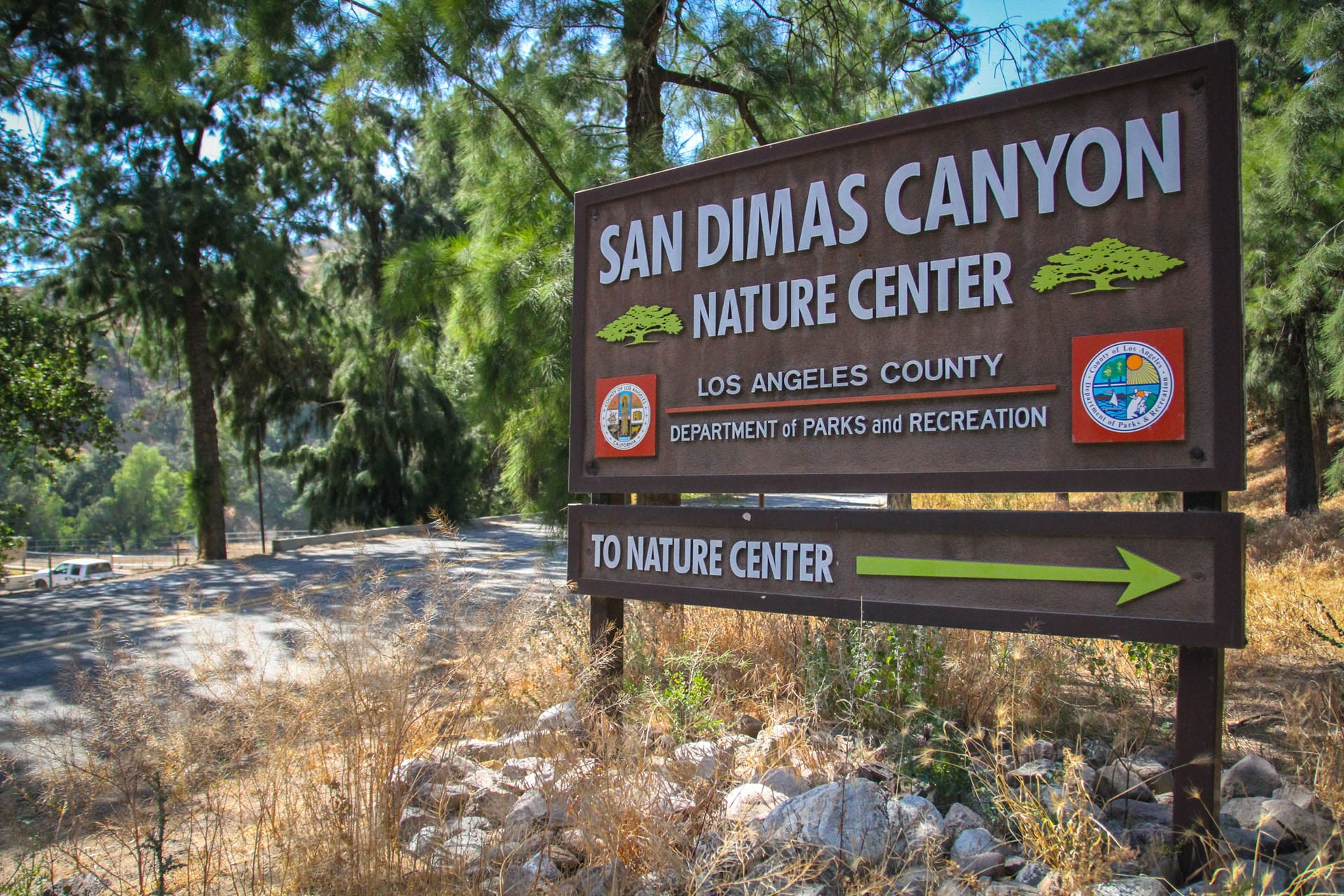 San Dimas Canyon Natural Center sign
