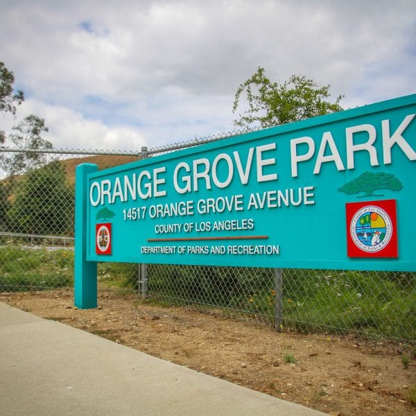 Orange Grove Park sign