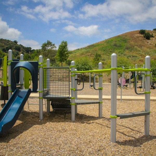 Playground amongst hills