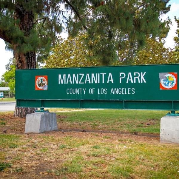 Manzanita Park sign