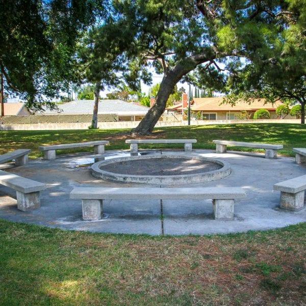 Circular bench area