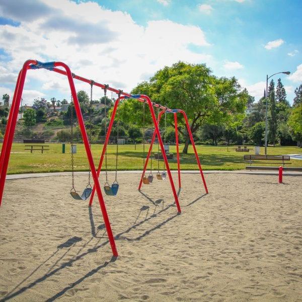 Swings on sand
