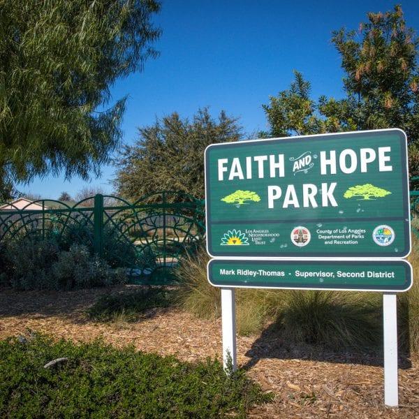 Faith and Hope Park sign