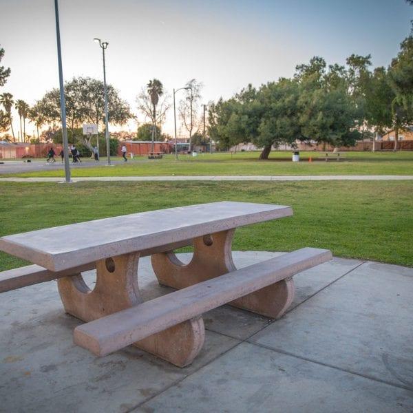 Adobe Picnic table next to lawn