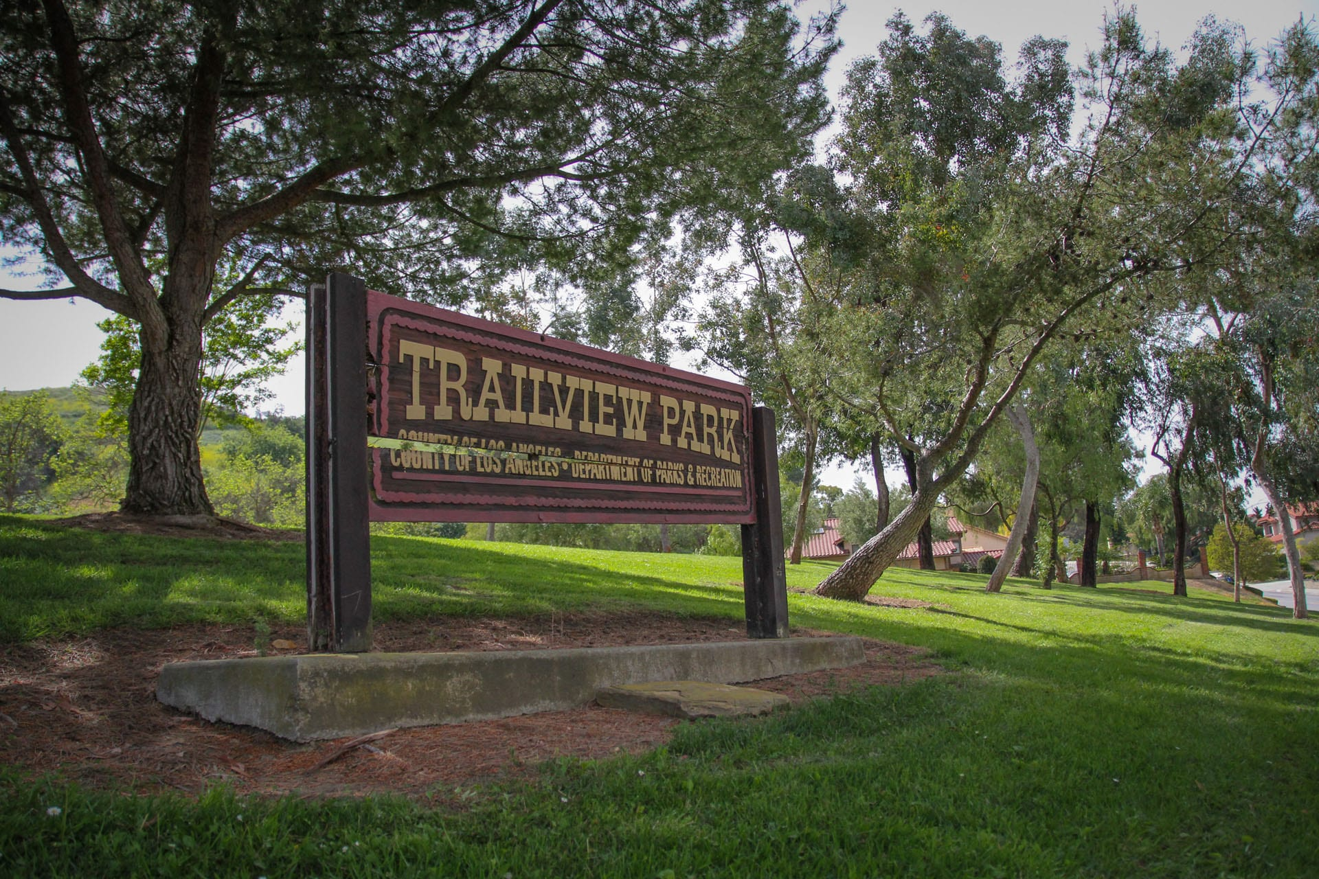 Trailview Park sign up close